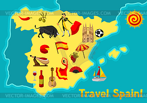 Map of Spain background design. Spanish.