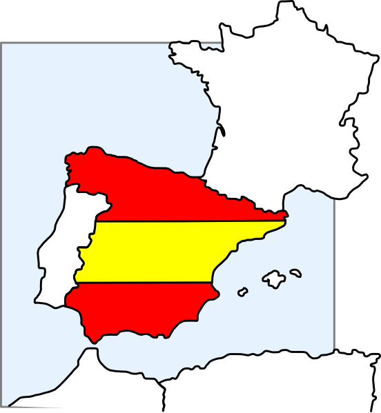 Spain Map And Flag Clip Art at Clker.com.