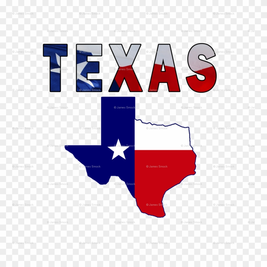 Cafepress Flag Map With Texas Tile Coaster Clipart (#2016119.