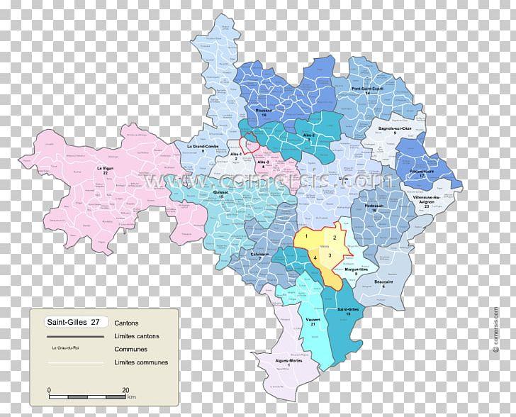 Map Cantones De Gard Cantoanele Franței Uzès PDF PNG.