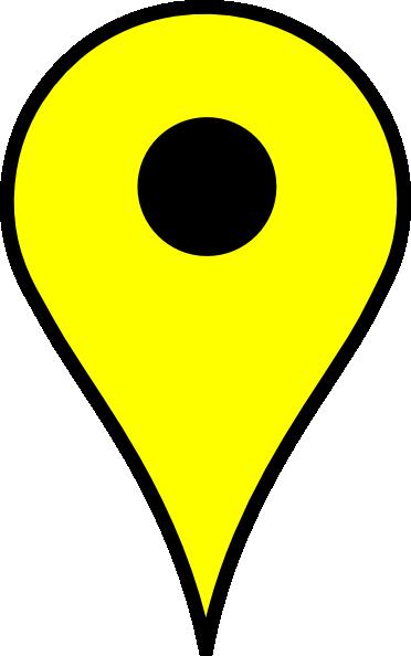 Map Pin Yellow Clip Art at Clker.com.