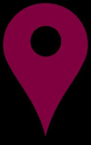 Map Pin Violet Clip Art at Clker.com.