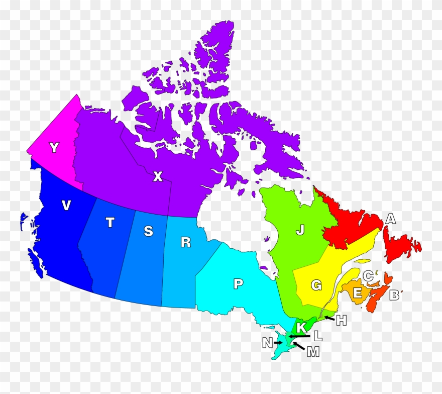 Canadian Postal Districts.