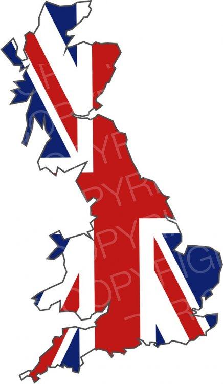United Kingdom Flag Island Prawny Map Clip Art.