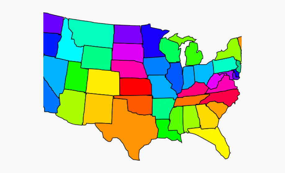United States Clipart Map.