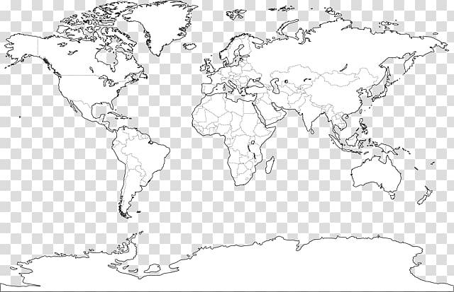 World map Mapa polityczna, Mapamundi transparent background.