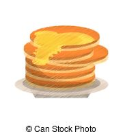 Clip Art Vector of maple syrup bottle traditional sketch vector.