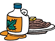Maple Syrup Borders Clipart.
