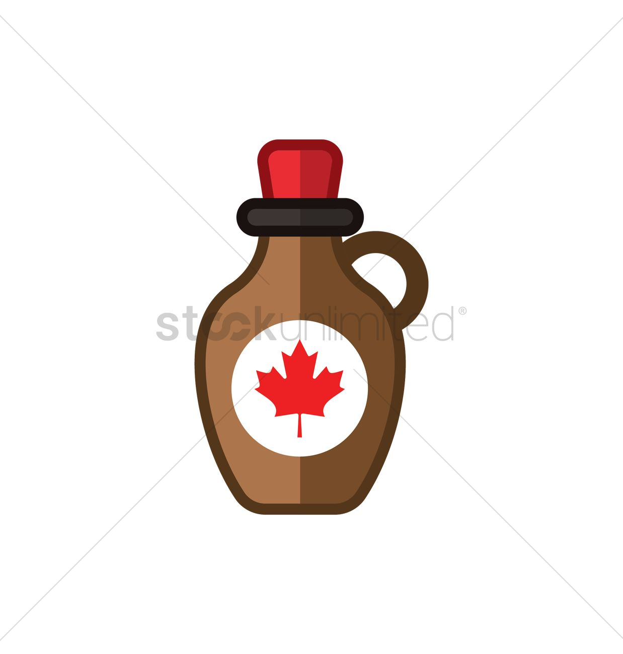 Bottle of maple syrup Vector Image.