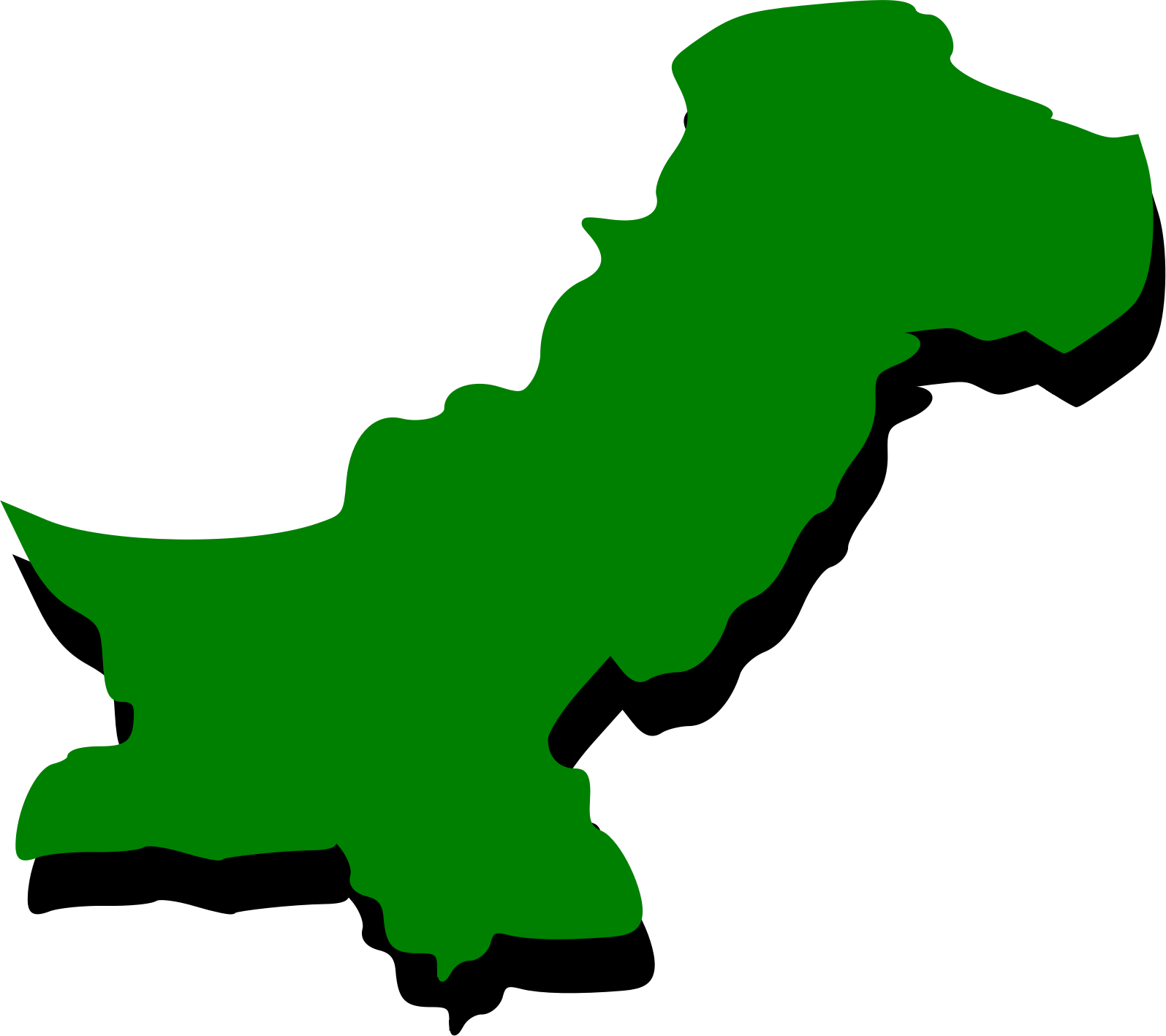Free Pakistan Map Outline, Download Free Clip Art, Free Clip.