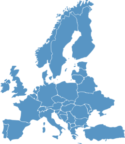 Europe Map Blue Clip Art at Clker.com.