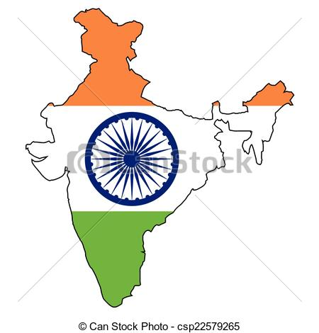 clipart maps of india #20