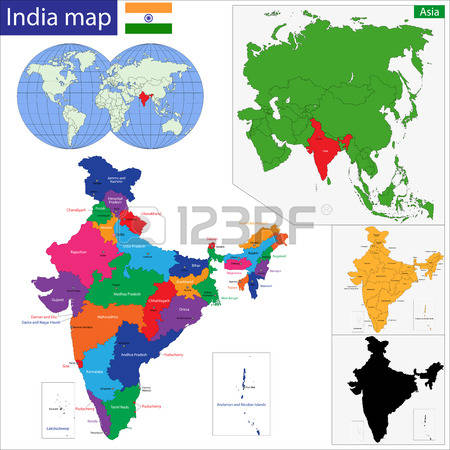 clipart maps of india #12