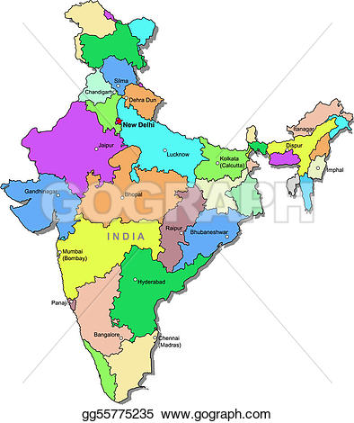 clipart maps of india #13