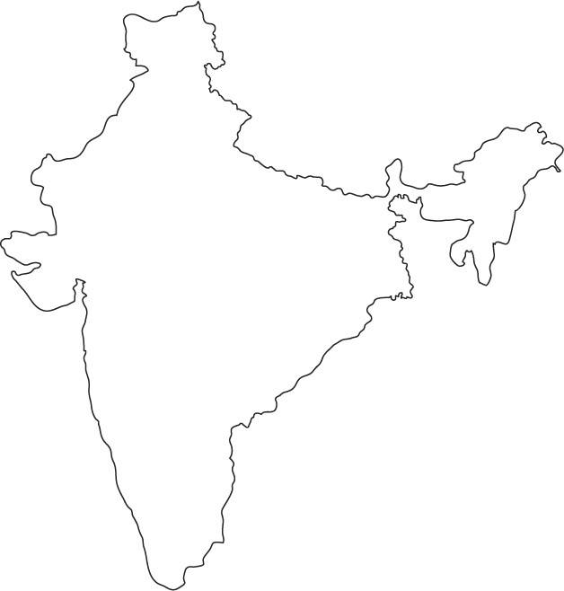clipart maps of india #11