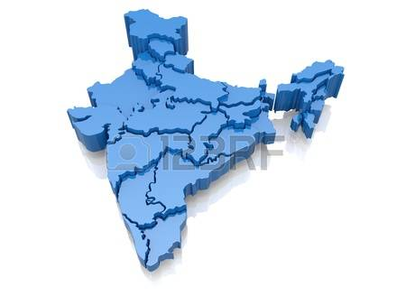 clipart maps of india #9