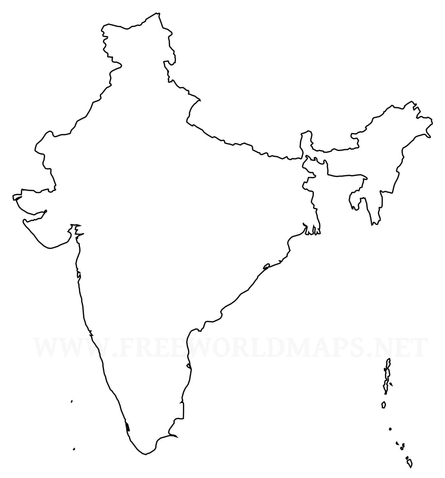 clipart maps of india #8