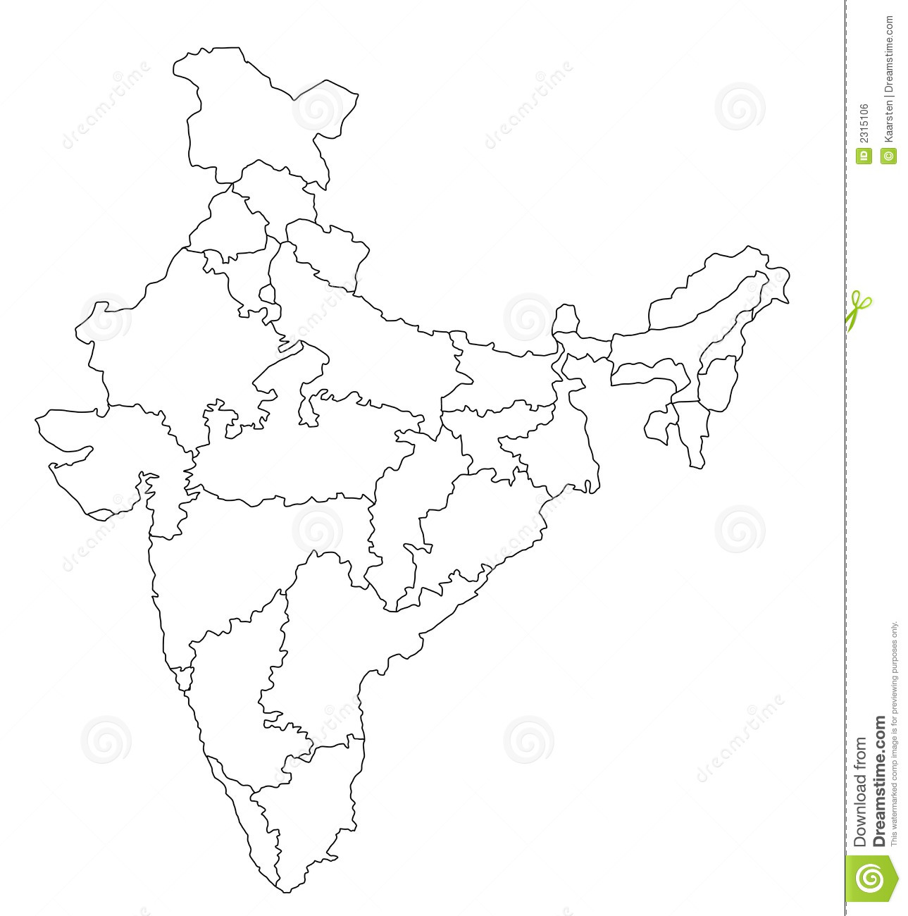 Map of India Clipart (58+).