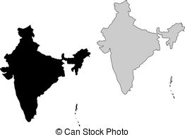 clipart maps of india #4