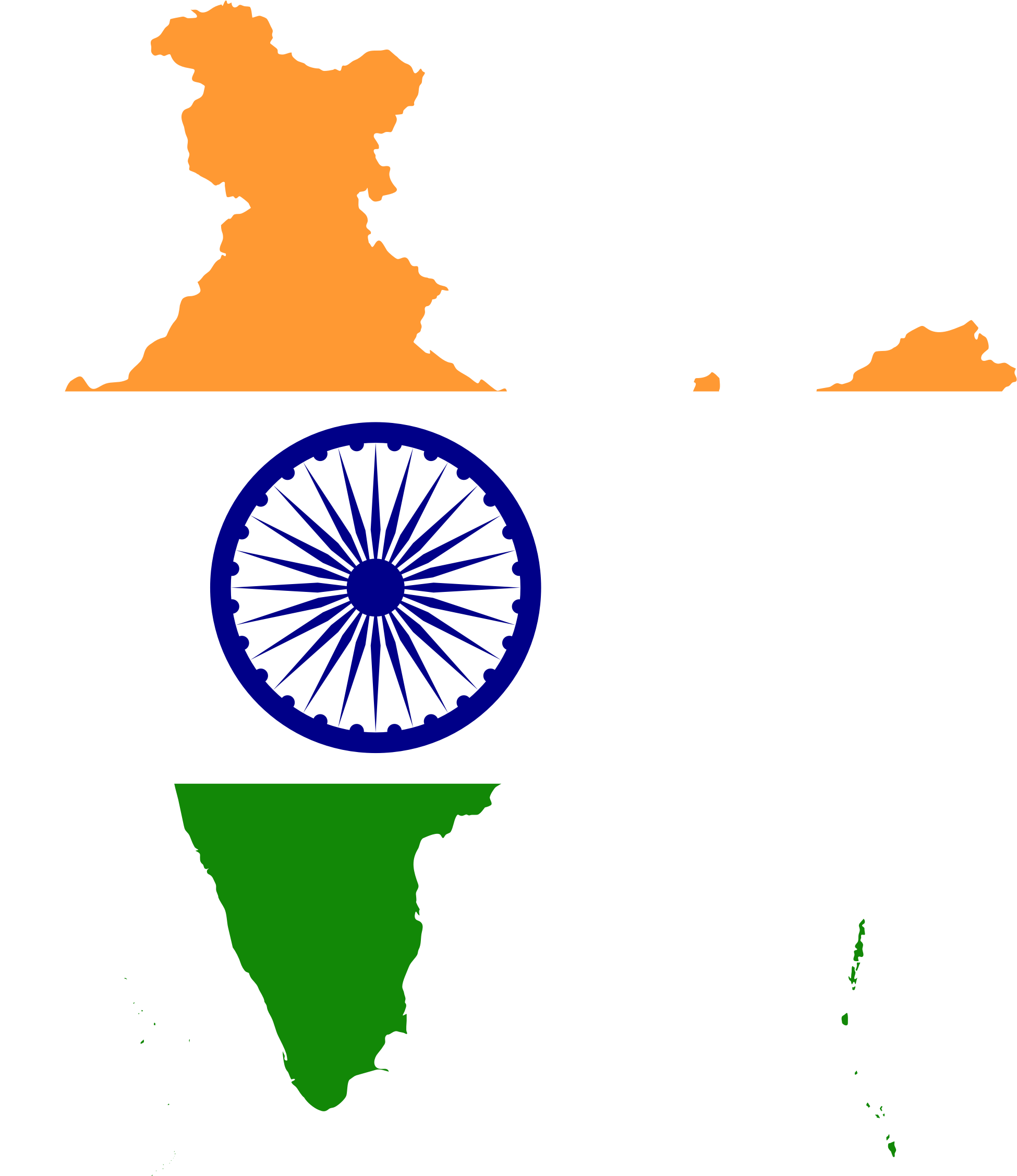 clipart maps of india #15
