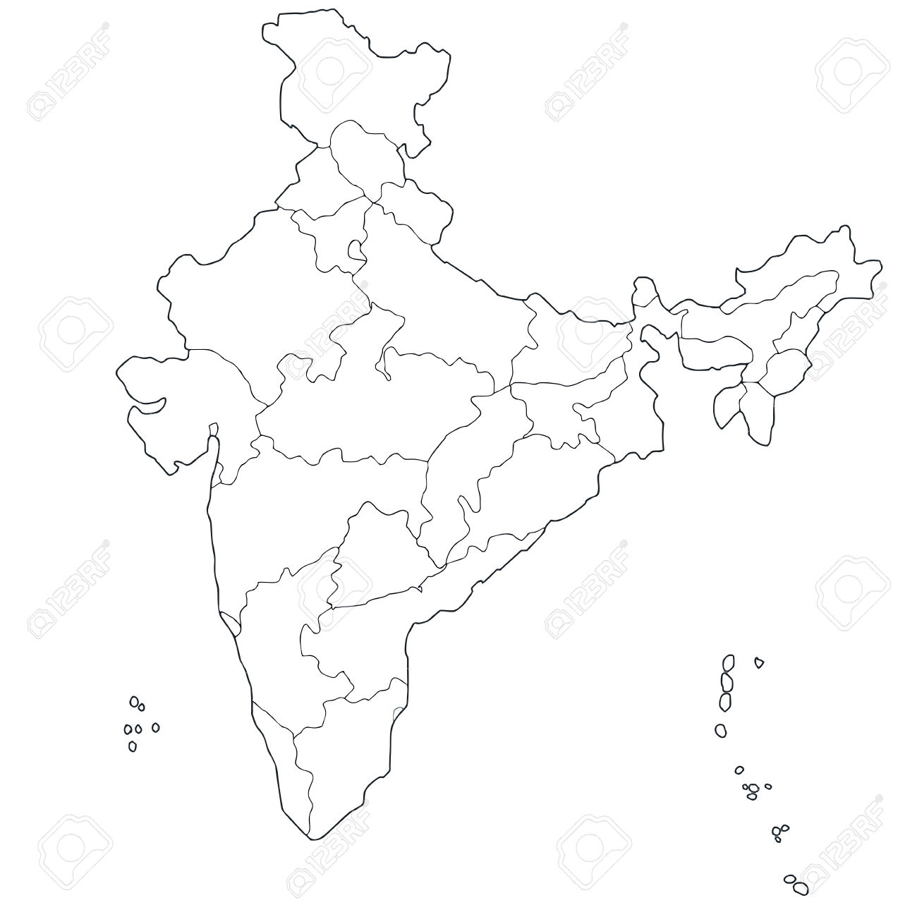 clipart maps of india #10