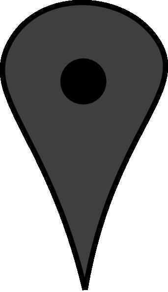 Grey Map Push Pin clip art.
