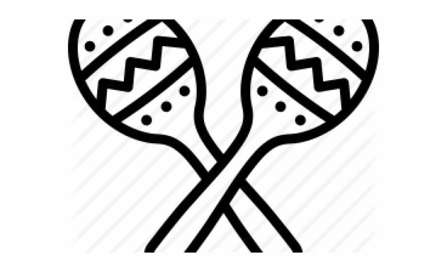 Black And White Maracas Clipart Free PNG Images & Clipart Download.