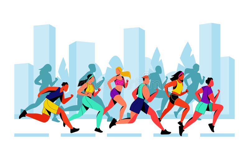 Marathon Stock Illustrations.
