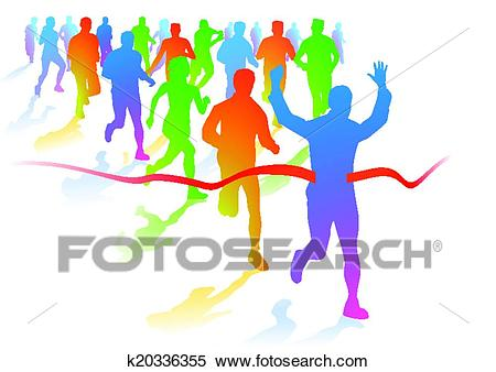 Marathon runners Clipart.