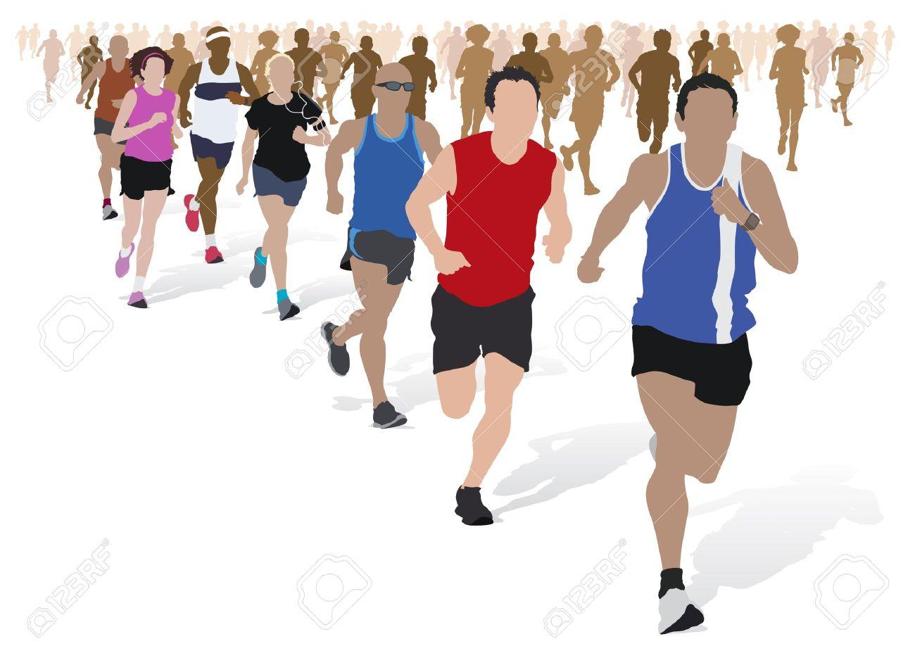 Running Marathon Clipart.