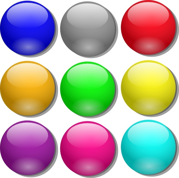 Game Marbles clip art Free vector in Open office drawing svg.