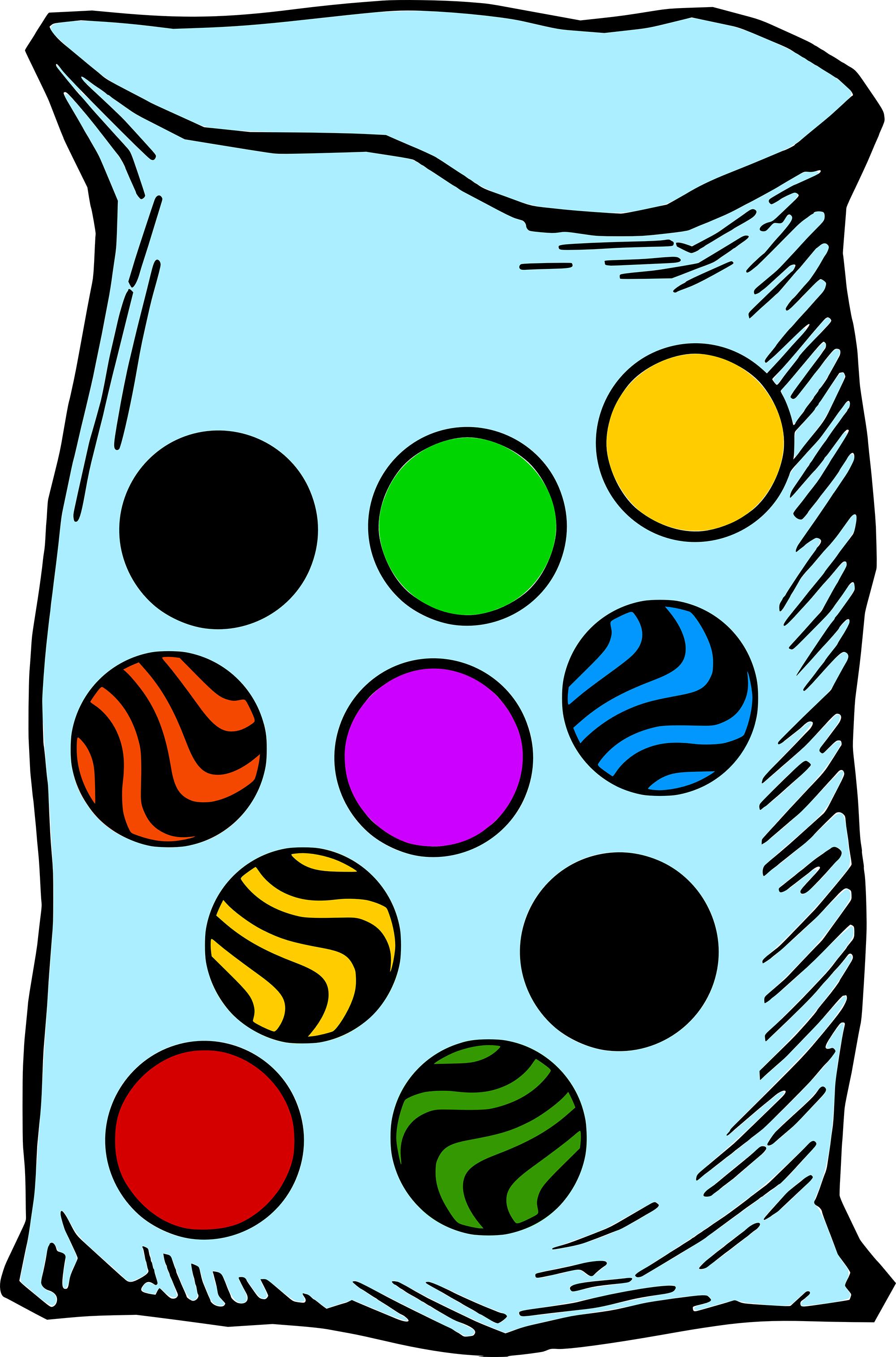 Free Clip Art Children\'s Marbles.