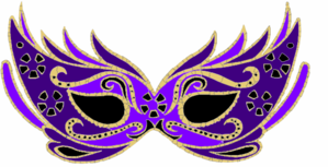 Purple Masquerade Mask Clip Art.