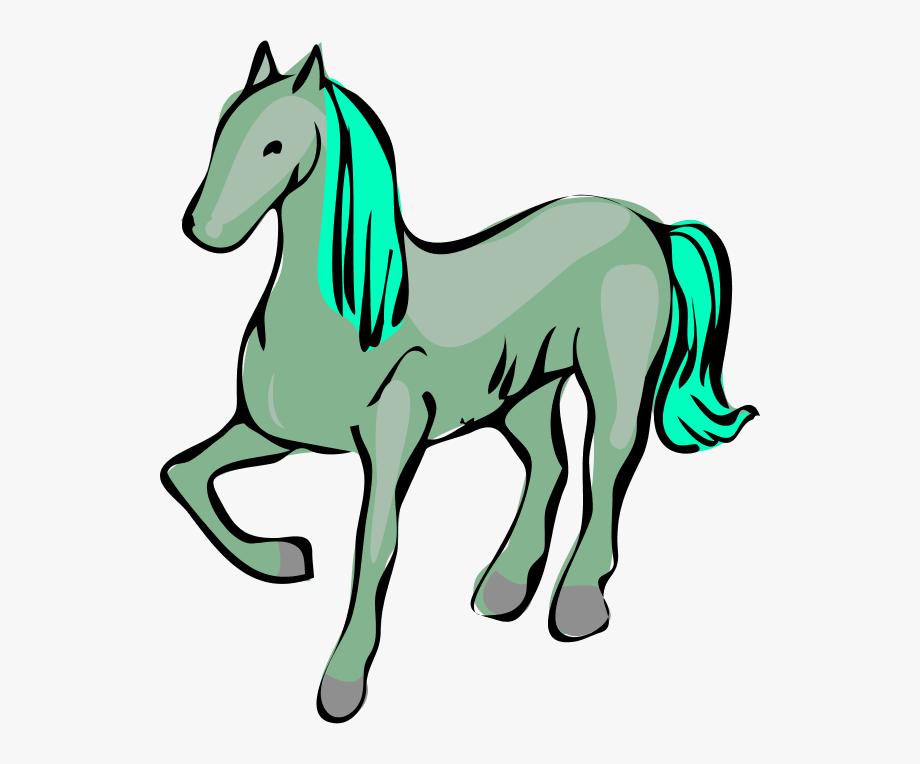 Green Horse Clipart.