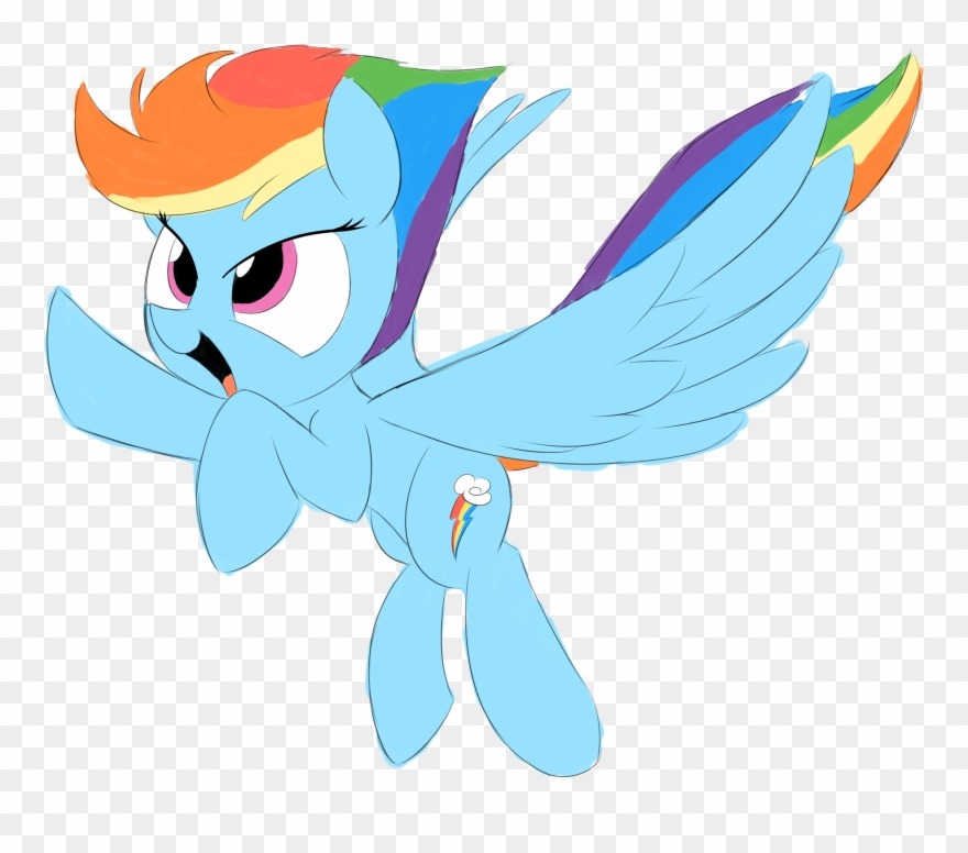 Taurson, Female, Mare, Pegasus, Pony, Rainbow Dash, Clipart.