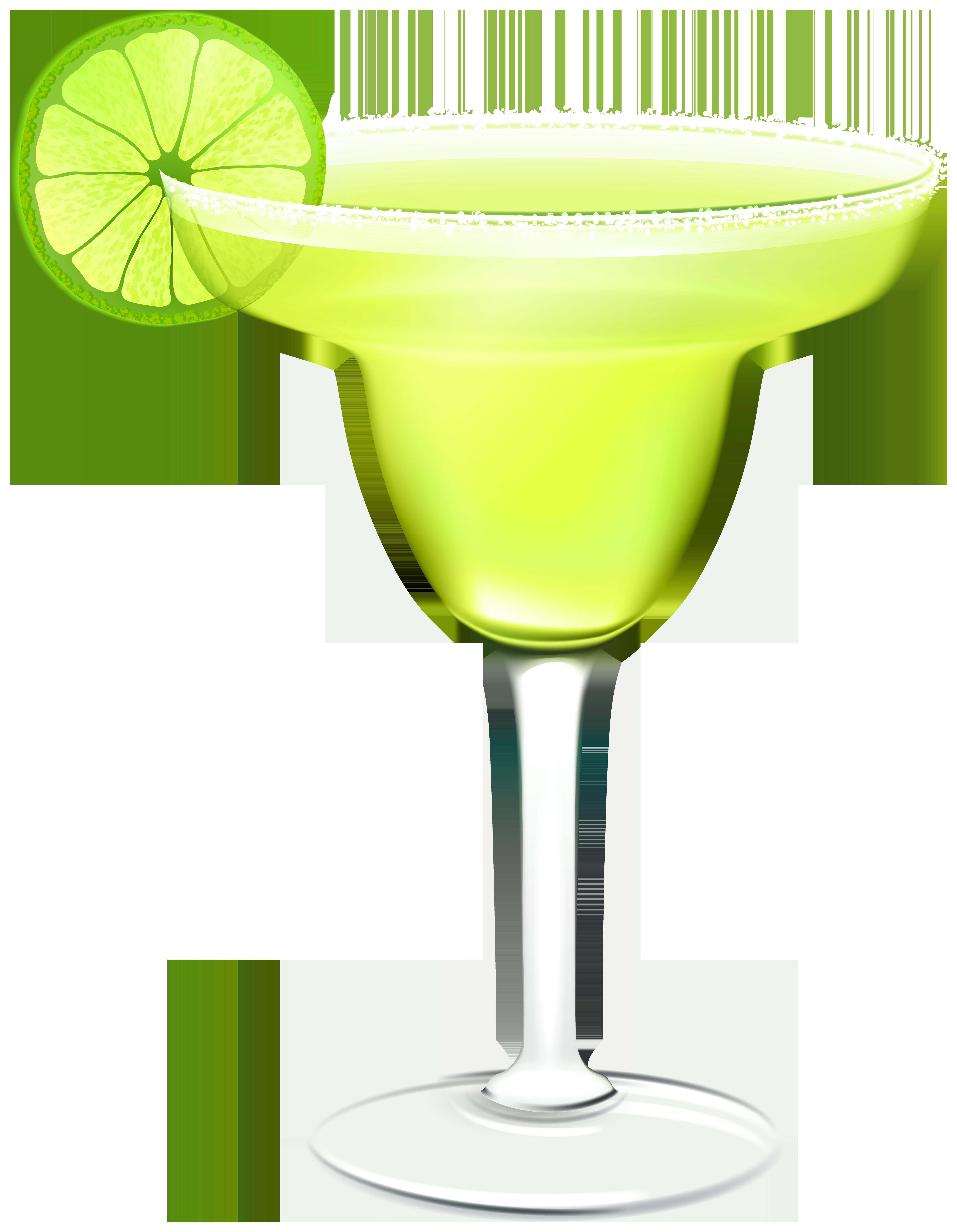 Green Margarita Cocktail PNG Clip Art.