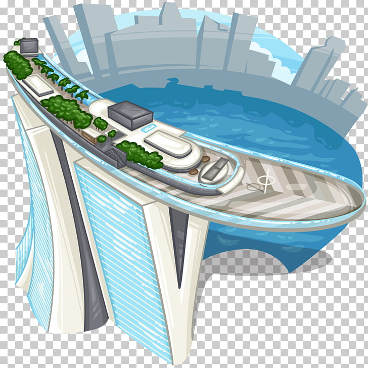 Marina Bay Sands Infinity pool Hotel, SINGAPORE PNG clipart.