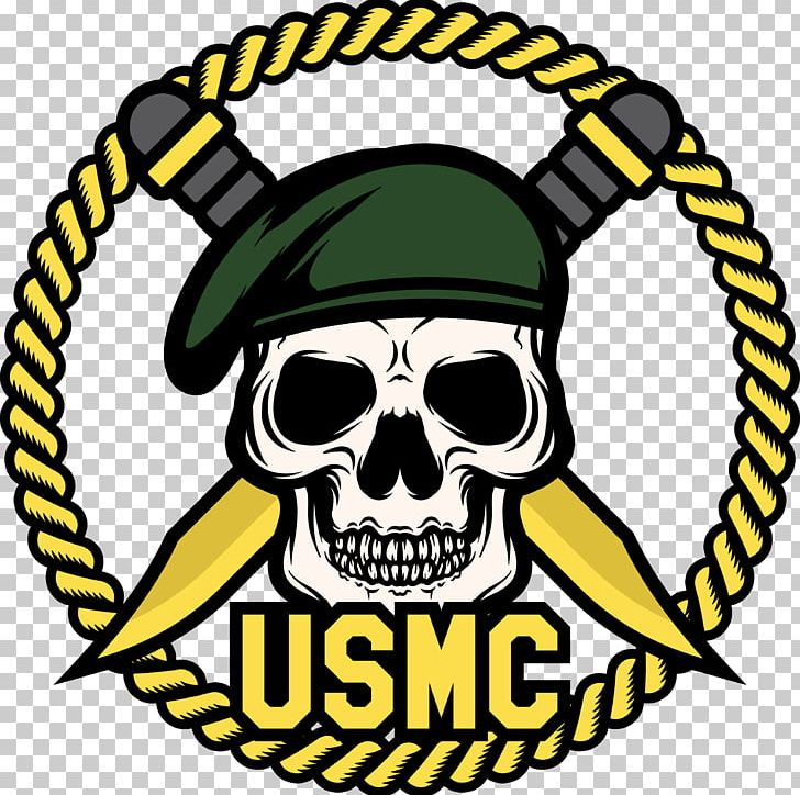 Skull United States Marine Corps Marines Soldier PNG.