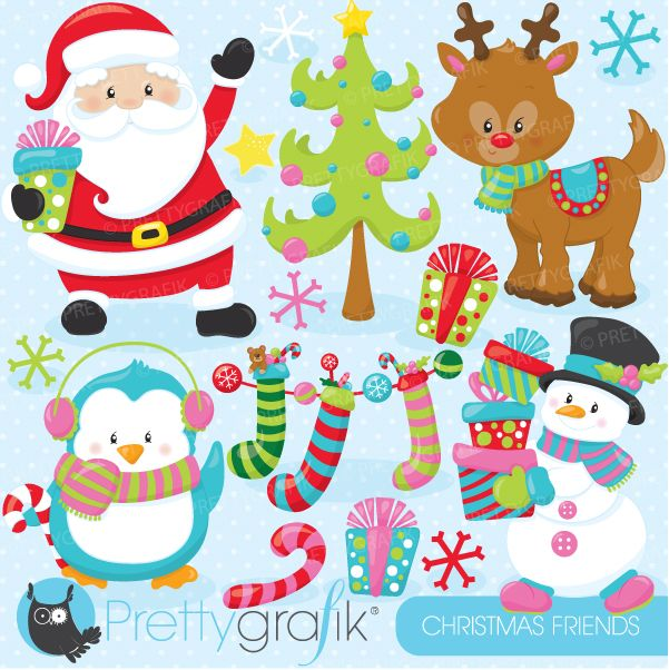 Christmas Friends Clipart.