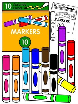 Marker clipart * color and black and white.
