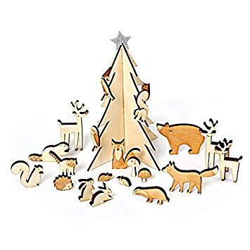 Meri Meri Wooden Woodland Advent Calendar.