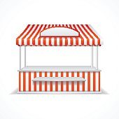 Free Open Air Market Stall Clipart and Vector Graphics.