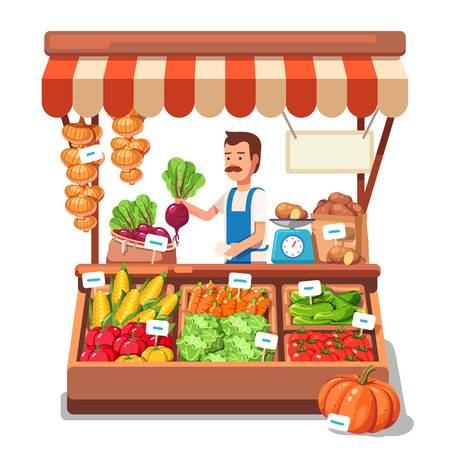 5,340 Market Stall Cliparts, Stock Vector And Royalty Free Market.