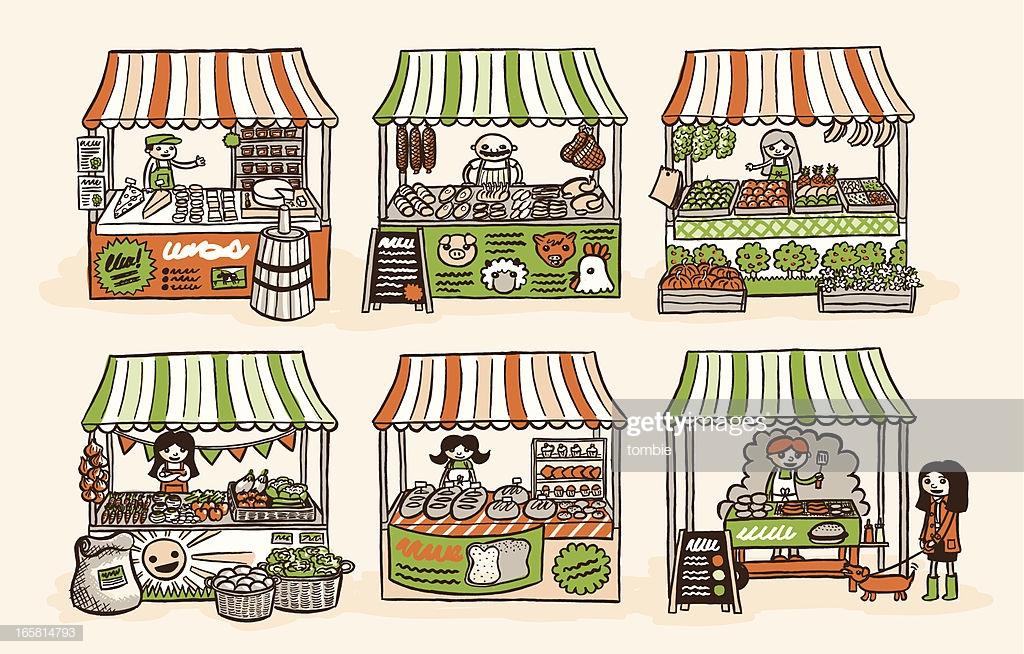 60 Top Market Stall Stock Illustrations, Clip art, Cartoons, & Icons.