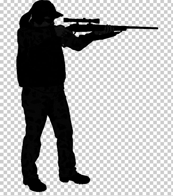 Hunter Field Target Sniper Rifle Silhouette Marksman PNG.