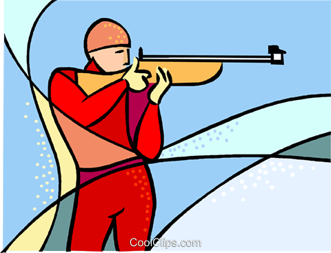 Olympic sports, marksman Royalty Free Vector Clip Art.