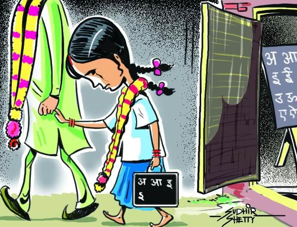 Indian Child Marriage Clipart.