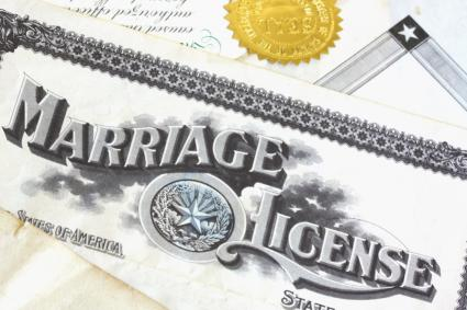 Marriage License Clipart.