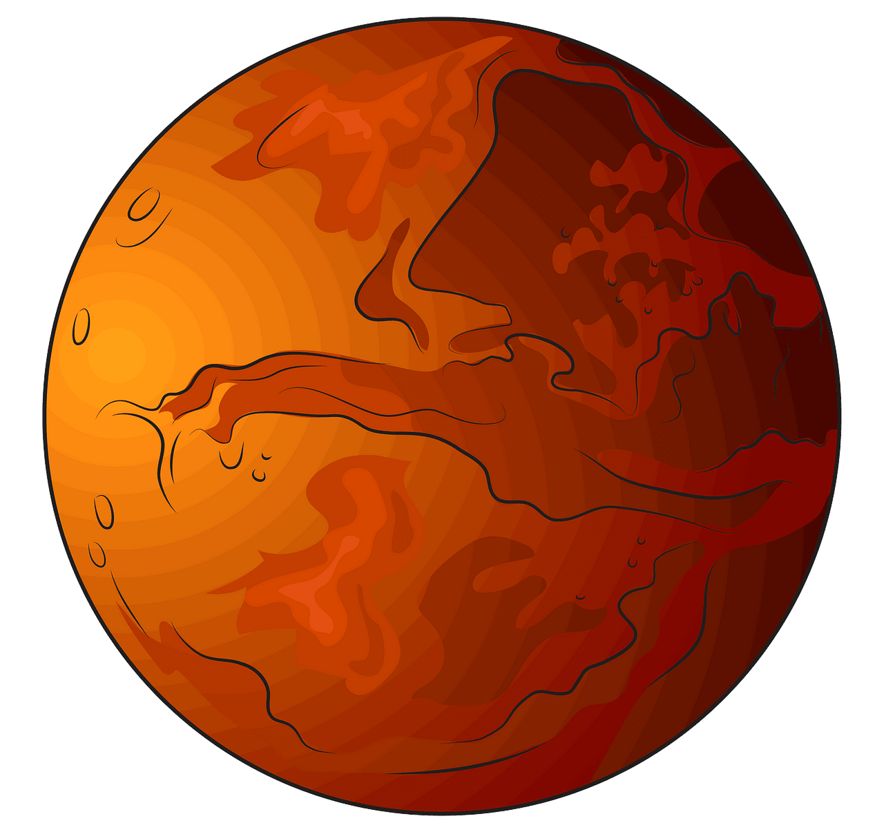 Mars clipart. Free download..