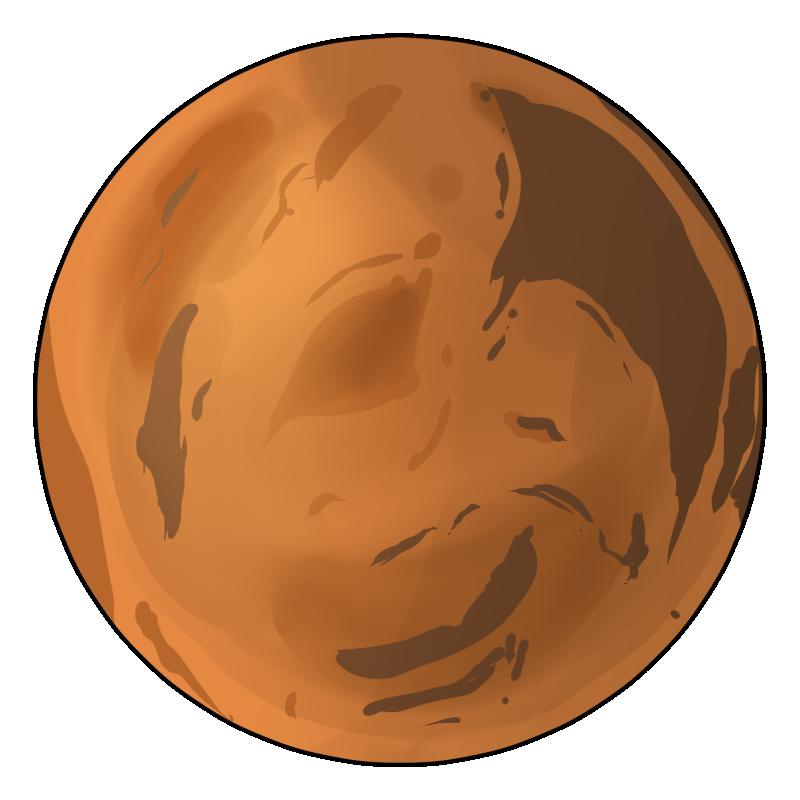 Planet Mars Clipart.
